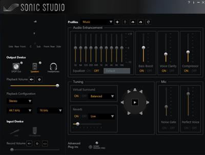 Программное обеспечение Sonic Studio