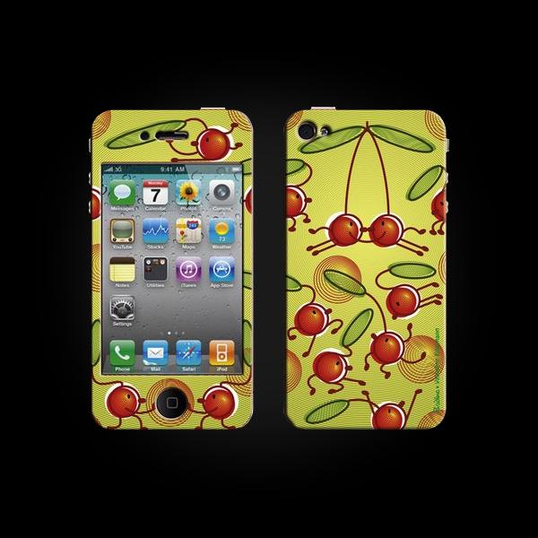 Bodino Cherry Hop by Valentine Edelmann iPhone 4 Skin купить