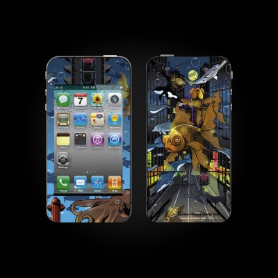 Bodino Crosstown Traffic by Wesly George Gibs iPhone 4 Skin