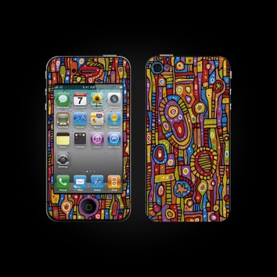 Bodino Organic Pattern by Ulrike Vater iPhone 4 Skin купить