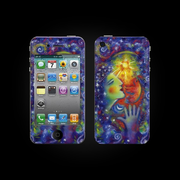 Bodino Woman With a Smile by Tom Saecker iPhone 4 Skin купить
