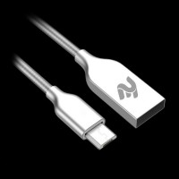 2E USB 2.4 MicroUSB Data/Charge Spring Metal 1m, Silver (2E-CCTM36M-1S)