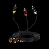 2E W 9670 3RCA Plug -3RCA Plug ,Al, 1.8m (2EW-9670)