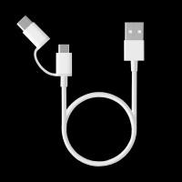 Xiaomi Mi 2in1 USB Cable micro/type-c 1m White