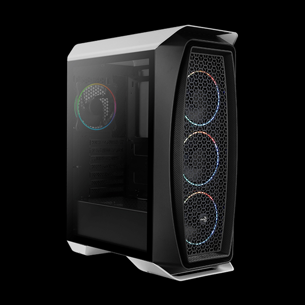 AeroCool Aero One Eclipse ARGB Tempered Glass White купить