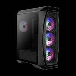 AeroCool Aero One Frost FRGB Tempered Glass (Black)