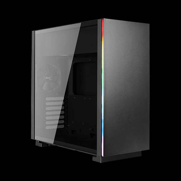 AeroCool GLO Tempered Glass RGB Black купить