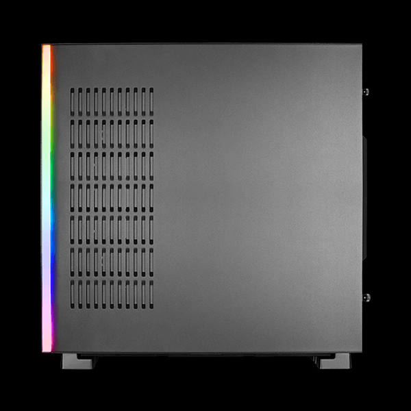 AeroCool GLO Tempered Glass RGB Black цена