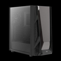 AeroCool NightHawk Tempered Glass (Black)