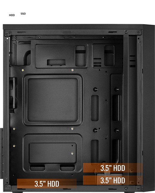 Место под HDD накопители