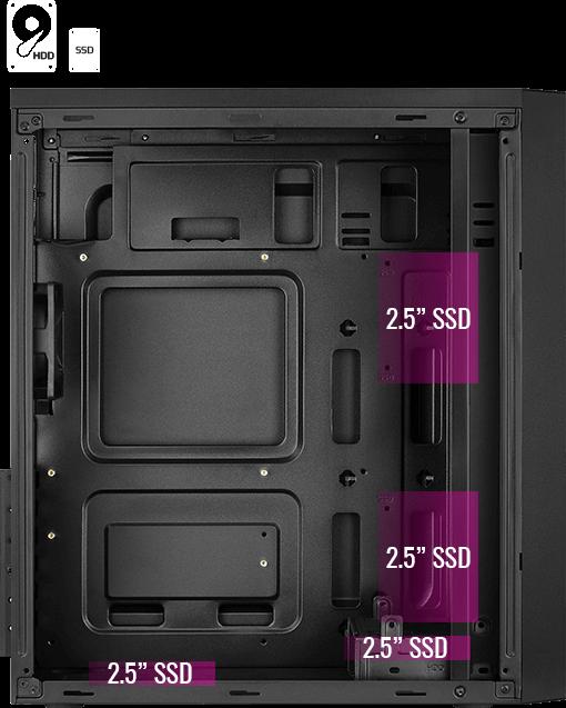 Место под SSD накопители