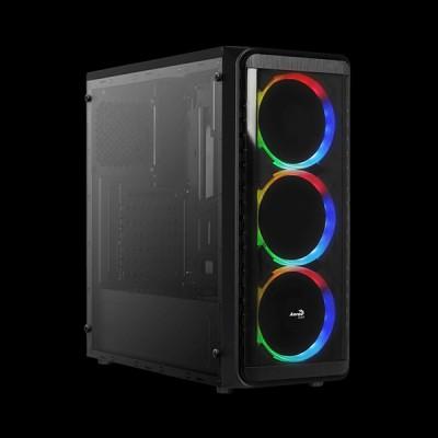 AEROCOOL SI-5200 RGB Tempered Glass купить