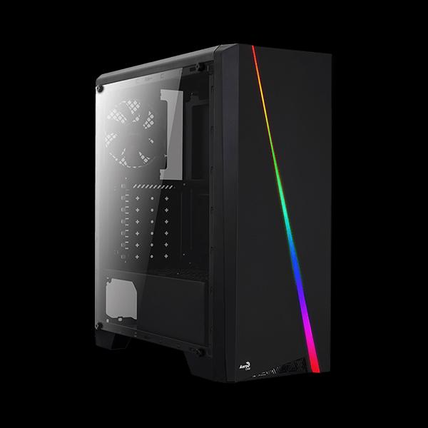 AEROCOOL PGS Cylon Tempered Glass RGB Black