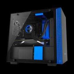 NZXT H200i micro-ATX Case Matte Black/Blue (CA-H200W-BL)