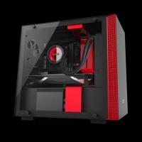 NZXT H200i micro-ATX Case Matte Black/Red (CA-H200W-BR)