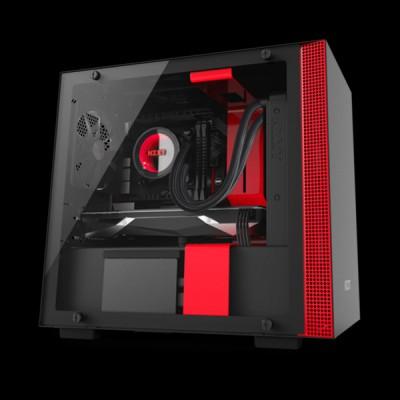 NZXT H200i micro-ATX Case Matte Black/Red (CA-H200W-BR) купить