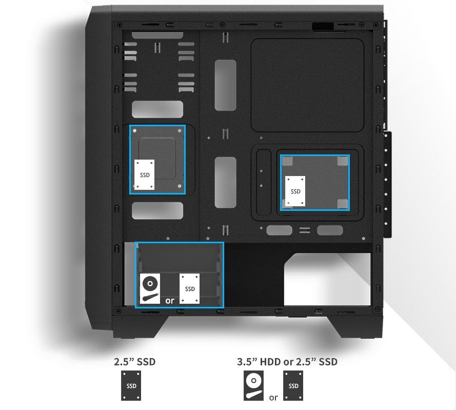 установка HDD