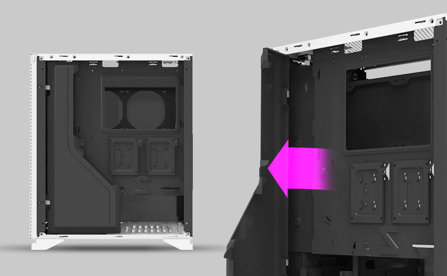 Прокладка кабелей внутри корпуса