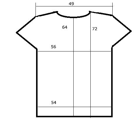 Размеры футболки