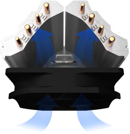 Двойной радиатор V-образной формы