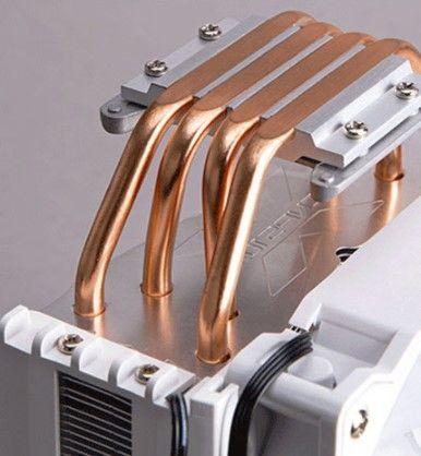 Четыре высокопроизводительных медных теплотрубки