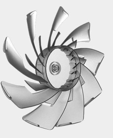 Вентилятор с двойными лопастями