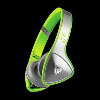 Monster DNA Neon On-Ear Headphones Silver on Neon Green