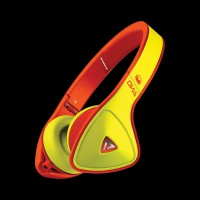 Monster DNA Neon On-Ear Headphones Yellow on Neon Orange