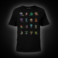 Dota 2 Heroes Pixelbatch T-Shirt XL Black