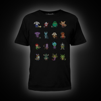 Dota 2 Heroes Pixelbatch T-Shirt S Black