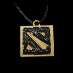 Dota 2 Logo Gold/Black
