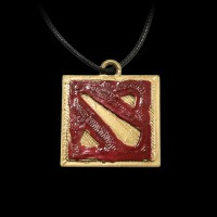 Dota 2 Logo Gold/Red