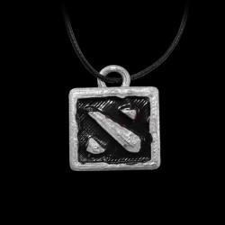 Dota 2 Logo Silver/Black