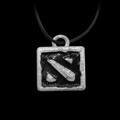 Dota 2 Logo Silver/Black купить