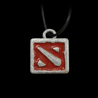 Dota 2 Logo Silver/Red
