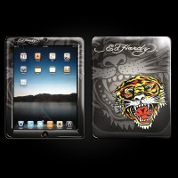 Ed Hardy Charcoal iPad Skin