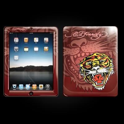 Ed Hardy Maroon iPad Skin