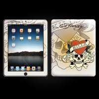 Ed Hardy White iPad Skin