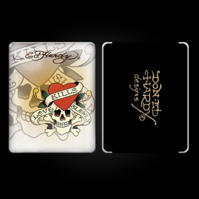 Ed Hardy White iPad Case