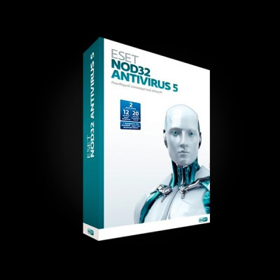 ESET NOD32 AntiVirus 5 2Dt 1 year