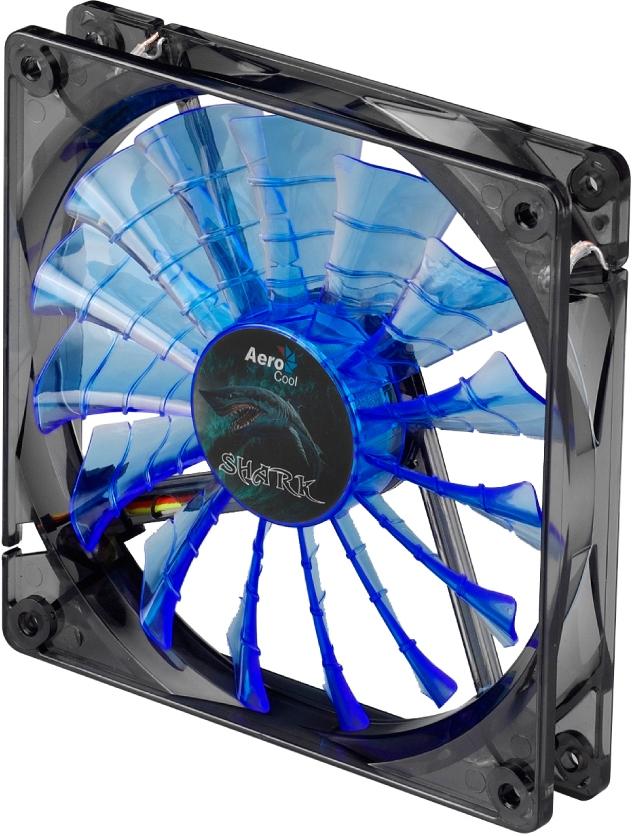 Shark Fan 120мм blue image 3