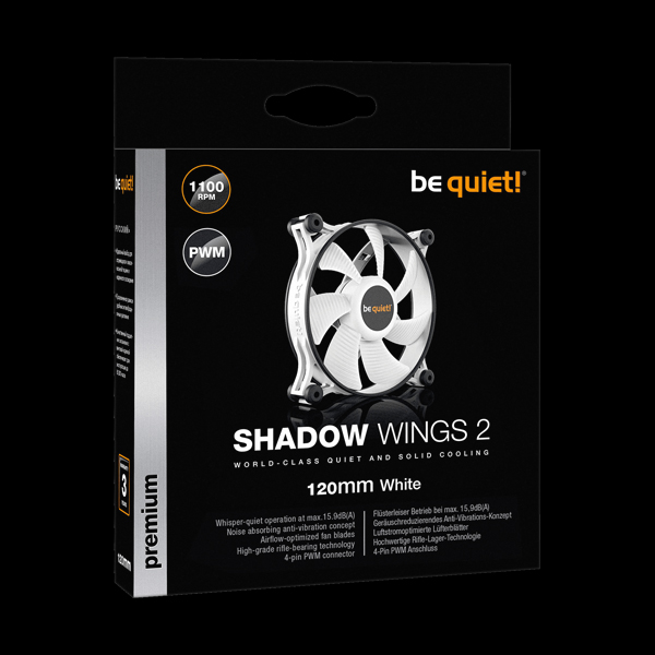 be quiet! Shadow Wings 2 120mm PWM White (BL089) фото