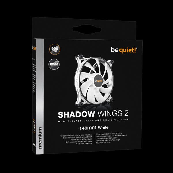 be quiet! Shadow Wings 2 140mm PWM White (BL091) фото