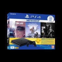 Sony PlayStation 4 1Tb (Horizon Zero Dawn/Detroit/The Last of Us/PS Plus)