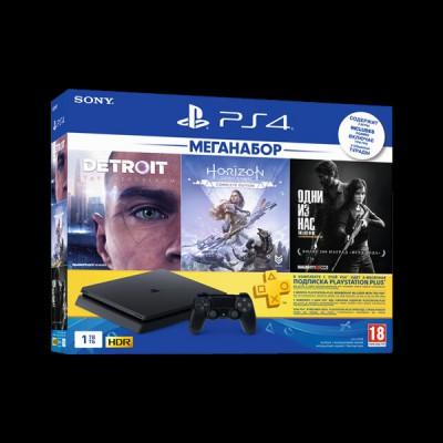 Sony PlayStation 4 1Tb (Horizon Zero Dawn/Detroit/The Last of Us/PS Plus) купить