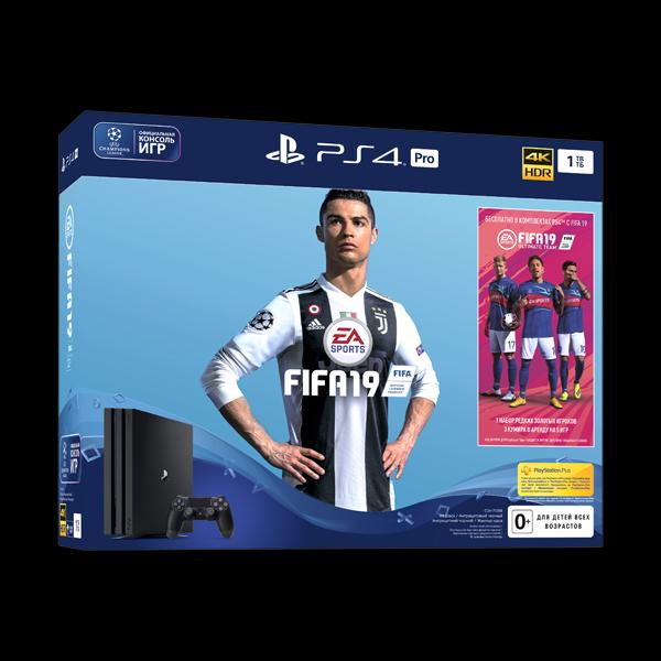 Sony PlayStation 4 Pro 1TB Black + FIFA 19 купить