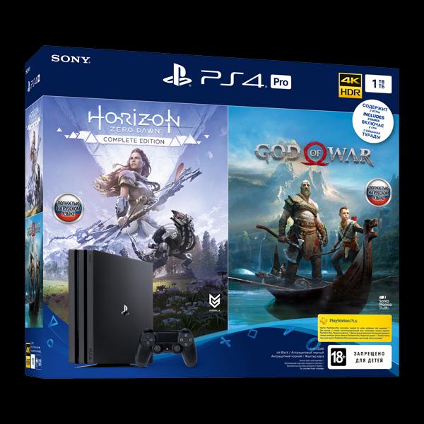 Sony PlayStation 4 Pro 1TB (God of War/Horizon Zero Dawn CE) купить