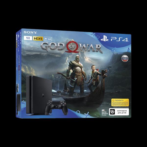 Sony PlayStation 4 Slim 1Tb + God of War купить