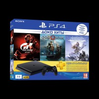 Sony PlayStation 4 Slim 1Tb (Horizon Zero Dawn/God of War/Gran Turismo/PS Plus)