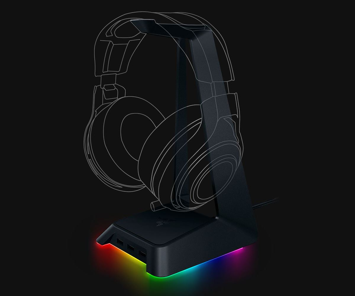 Razer Headphone Stand Chroma ракурс 1